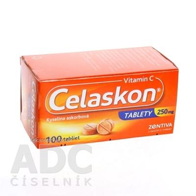 Celaskon tablety 250 mg tbl 250 mg (fľ.skl.hnedá) 1x100 ks