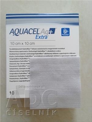 AQUACEL Ag+ Extra krytie na rany so striebrom so zosilneným účinkom, 10x10 cm, 1x10 ks