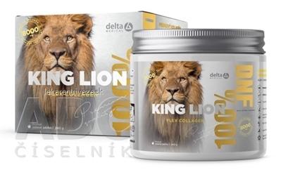 DELTA KING LION Flex Collagen 8 000 mg rozpustný prášok na prípravu nápoja, príchuť zelené jablko 1x240 g