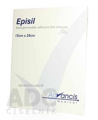 Vellafilm (Episil) krytie na rany silik.transparentné 15x20 cm 1x10 ks