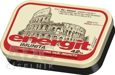 Energit IMUNITA vitamínové tablety s príchuťou malina 1x42 ks