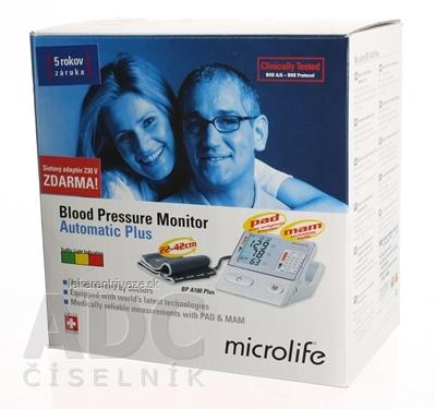 MICROLIFE TLAKOMER DIGITÁLNY BP A100 plus automatický s adaptérom 1x1 set