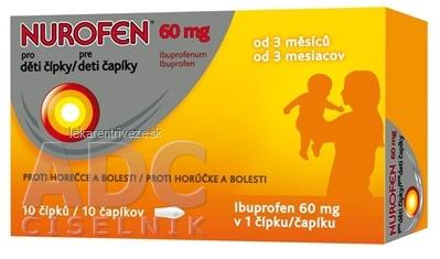 NUROFEN pre deti čapíky 60 mg sup 1x10 ks