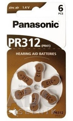 Panasonic PR312 (PR41) batérie do načúvacích prístrojov 1x6 ks