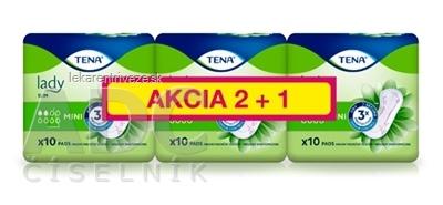 TENA Lady Slim Mini 2+1 inkontinenčné vložky 3x10 (30 ks), 1x1 set