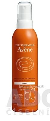 AVENE SPRAY SPF50+ (TRÈS HAUTE PROTECTION) veľmi vysoká ochrana citlivej kože 1x200 ml