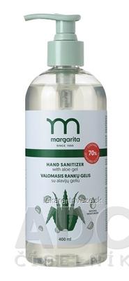 margarita HAND SANITIZER Čistiaci gél na ruky s Aloe Vera, s dávkovačom 1x400 ml