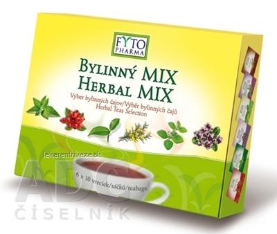 FYTO BYLINNÝ MIX - Darčeková kazeta 6 druhov čajov po 10 vrecúšok, 1x1 set