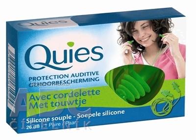 Quies Silikónové chrániče sluchu so šnúrkou 26 dB, 1x2 ks