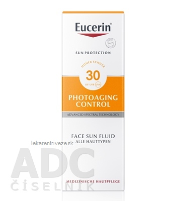 Eucerin SUN PHOTOAGING CONTROL SPF 30 na tvár emulzia na opaľovanie 1x50 ml