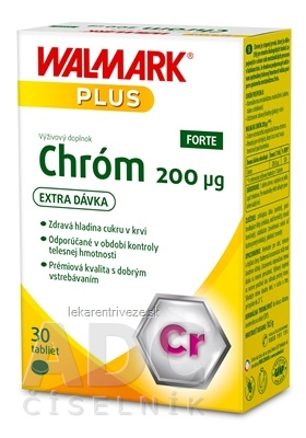 WALMARK Chróm Forte 200 µg (inov. 2019) tbl 1x30 ks