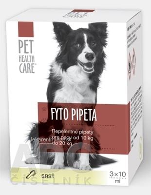 PET HEALTH CARE FYTO PIPETA repelentná, pre psov od 10 kg do 20 kg, 3x10 ml