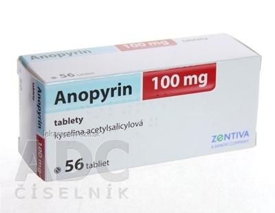 Anopyrin 100 mg tbl (blis.) 1x56 ks