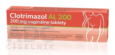 Clotrimazol AL 200 tbl vag 200 mg 1x3 ks