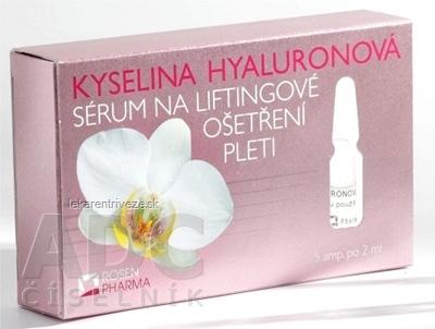 ROSEN KYSELINA HYALURÓNOVÁ - SÉRUM na liftingové ošetrenie pleti, ampuly 5x2 ml (10 ml)