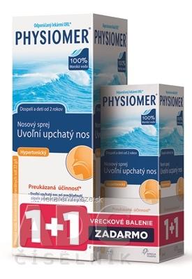 PHYSIOMER Hypertonický pack nosový sprej s obsahom morskej vody 135 ml + 20 ml zadarmo, 1x1 set