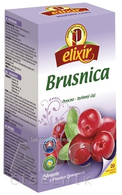 AGROKARPATY BRUSNICA pravá ovocno - bylinný čaj, balené vrecúška, 20x1,5 g (30 g)