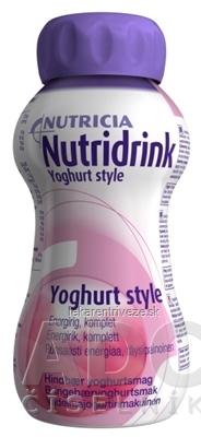 NUTRIDRINK YOGHURT tekutá výživa s príchuťou maliny 4x200 ml