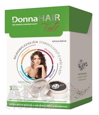 Donna HAIR Forte 3 mesačná kúra cps 90 ks + prívesok SWAROVSKI, 1x1 set