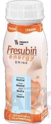 Fresubin Energy DRINK príchuť neutrálna, sol 4x200 ml (800 ml)