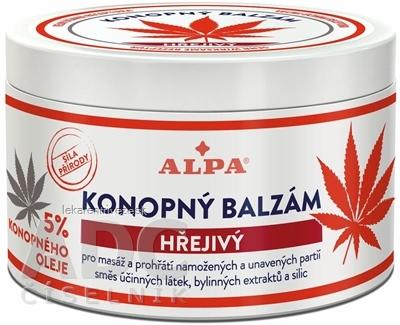 ALPA KONOPNÝ BALZAM hrejivý 1x250 ml