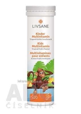 LIVSANE A-Z Multivitamín pre deti tbl eff (šumivé tablety, príchuť exotické ovocie) 1x20 ks