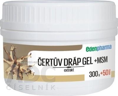 EDENPharma ČERTOV PAZÚR GÉL + MSM 300 g + 50 g zadarmo, 1x350 g