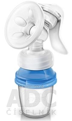 AVENT Manual. odsávačka mlieka + nový VIA systém 3 VIA poháriky s vrchnákmi na závit, 1x1 set
