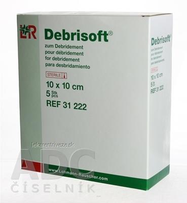 Debrisoft debridement rany (čistenie rany od nekrot. tkaniva), 10x10 cm, 1x5 ks