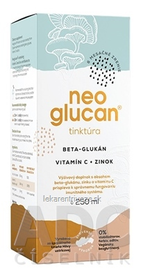 NeoGlucan tinktúra beta-glukán, vitamín C a zinok 1x250 ml