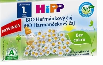 HiPP BIO Harmančekový čaj (od ukonč. 1. týždňa) nálevové vrecúška 20x1,5 g (30 g)