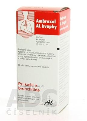 Ambroxol AL kvapky gtt por (fľ.skl.hnedá)  1x50 ml