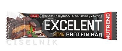 NUTREND EXCELENT PROTEIN BAR proteínová tyčinka, čokoláda+nugát s brusnicami 1x85 g