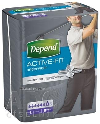 DEPEND ACTIVE-FIT L pre mužov inkontinenčné nohavičky, veľkosť L (97-127 cm) 1x8 ks