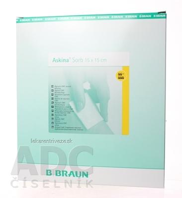 B.BRAUN ASKINA SORB (alginátové krytie) STERIL. KRYTIE NA RANY 15X15CM 1x10 ks