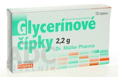 Dr. Müller Glycerínové čípky 2,2 g sup 1x12 ks