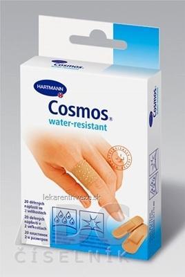 COSMOS Vode odolná (WATER-RESISTANT) náplasť na rany, 2 veľkosti 1x20 ks
