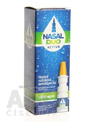NASAL DUO ACTIVE 1,0/50 mg/ml aer nao 90 dávok (fľ. s mech.rozpraš.) 1x10 ml