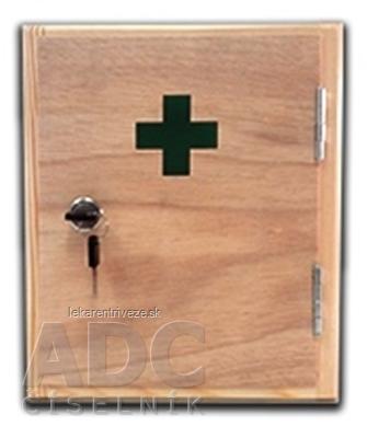 Lekárnička drevená malá závesná 1x1 ks