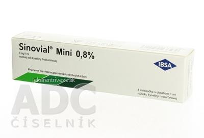 Sinovial Mini 0,8% viskoelastický roztok kys. hyalurónovej (8 mg/1 ml) 1x1 ml