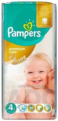 PAMPERS PREMIUM CARE 4 Maxi detské plienky (8-14 kg) 1x52 ks