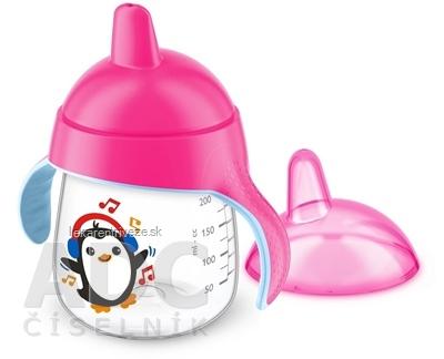 AVENT HRNČEK Premium 260 ml s držadlami od 12 mesiacov, tvrdý náustok, dievča, 1x1 ks