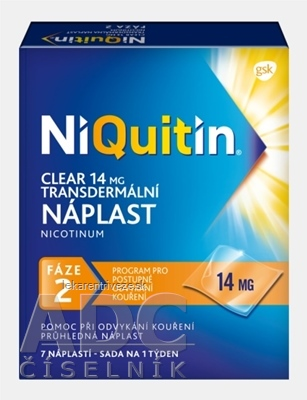 NiQuitin Clear 14 mg emp tdm 1x7 ks
