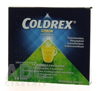 COLDREX Horúci nápoj Citrón plo por 5g (vre.PPFP laminátové) 1x14 ks