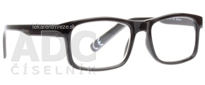 FGX Okuliare na čítanie Basic +1.5 D, Shiny black 1x1 ks