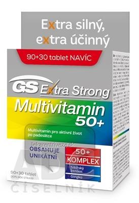 GS Extra Strong Multivitamín 50+ tbl (inov.2021) 90+30 navyše (120 ks)