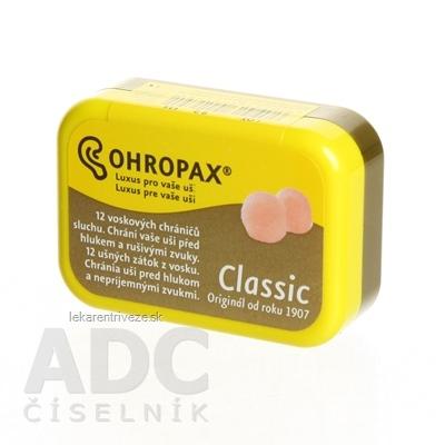 OHROPAX CLASSIC Ušné vložky v krabičke 1x12 ks