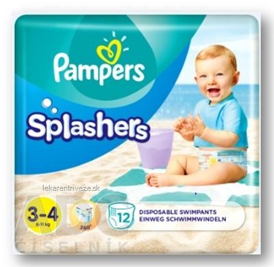 PAMPERS SPLASH MIDI 3-4 detské plienky na plávanie (6 - 11 kg) 1x12 ks