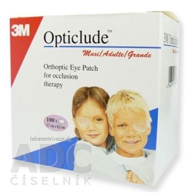 3M Opticlude Maxi Očná náplasť [SelP] 5,7x8,2 cm, ortoptická (1539/100) 1x100 ks