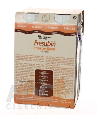 Fresubin Energy fibre DRINK EasyBottle, príchuť čokoládová, 4x200 ml (800 ml)
